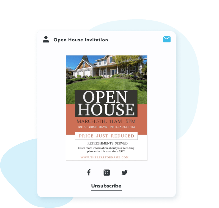 Send real estate email campaigns